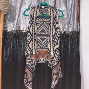 Western style xhilaration vest